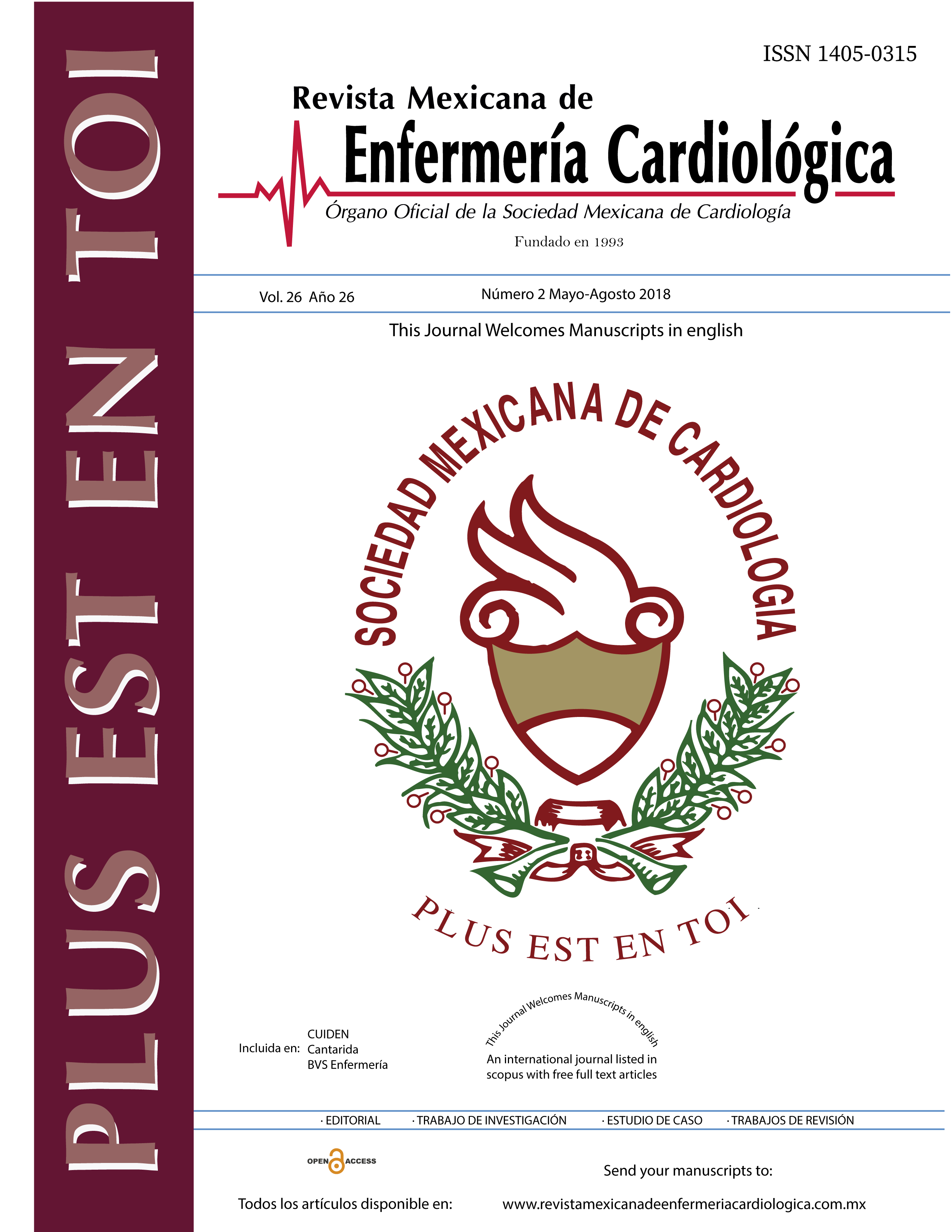 Rev Mex Enferm Cardiol. 2018;26(2):34-68