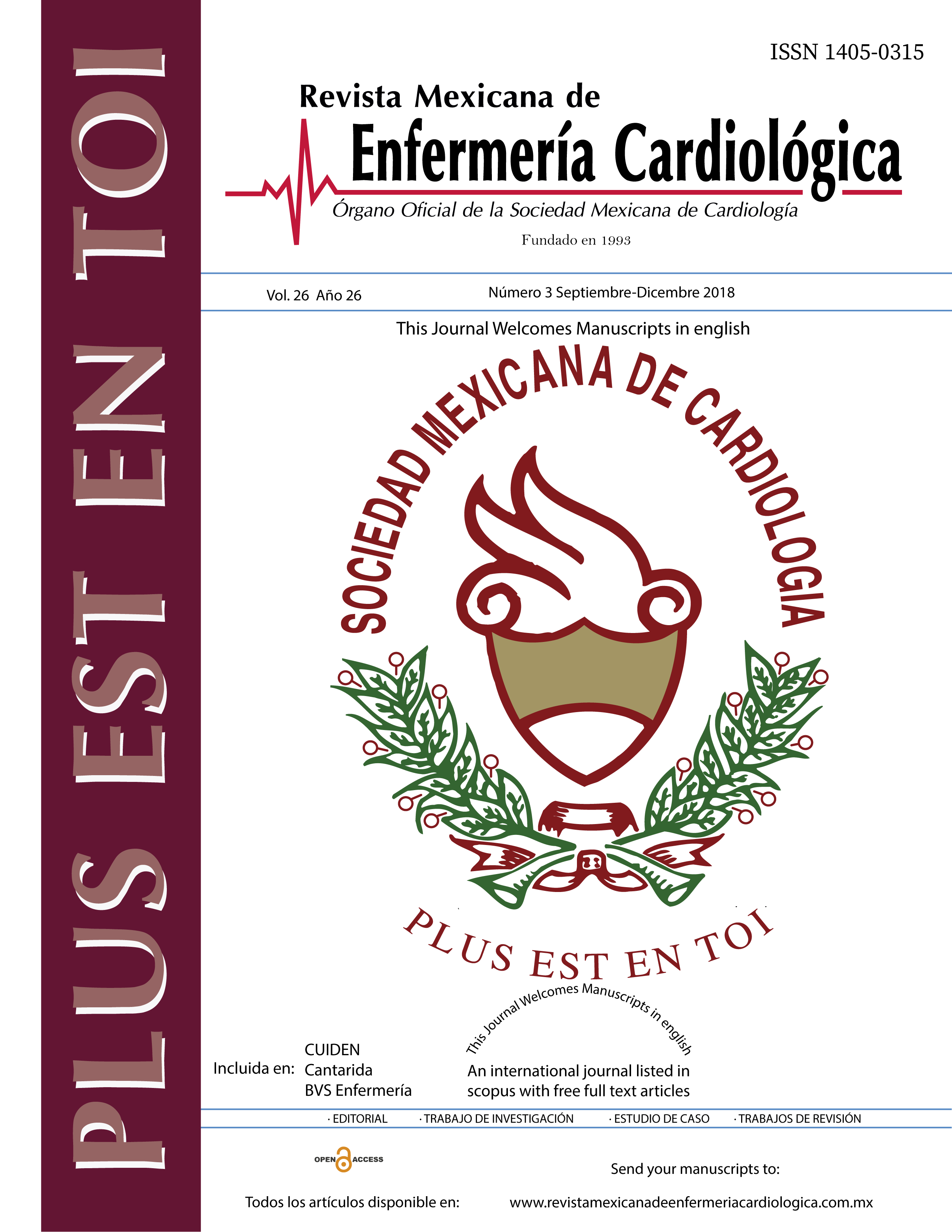 Rev Mex Enferm Cardiol 2018;26(3)69-109
