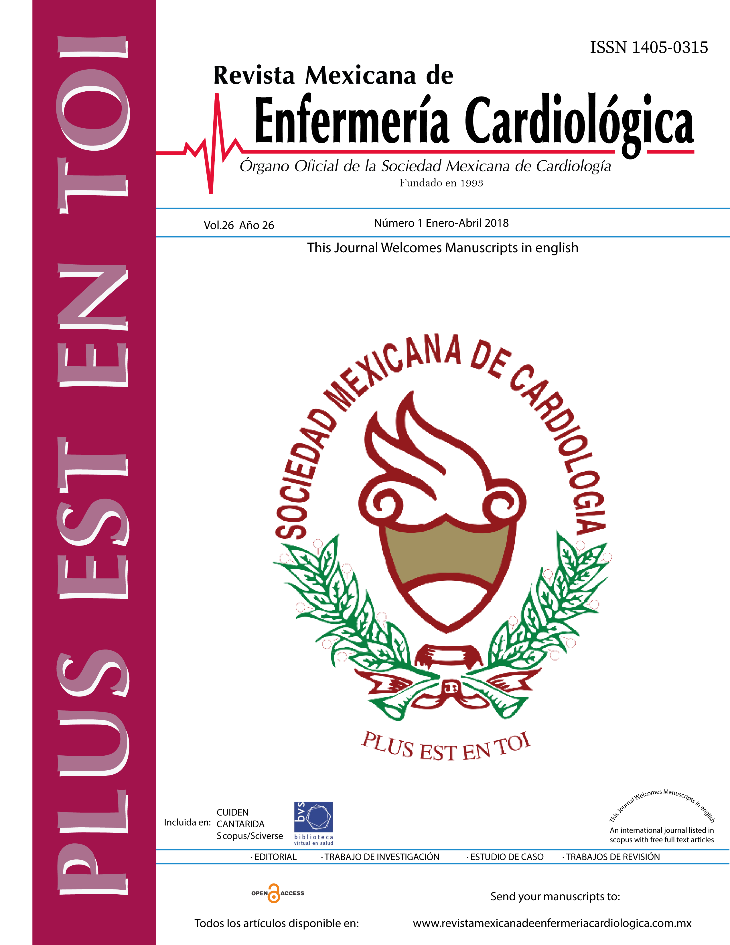 Rev Mex Enferm Cardiol 2018;26(1)1-32
